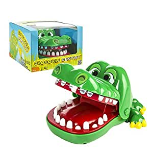 Crocodile Dentist - A Grouchy Friend with a Grievous Toothache - 1 to 4 Players - Ages 4 and Up (Discontinued by manufacturer)