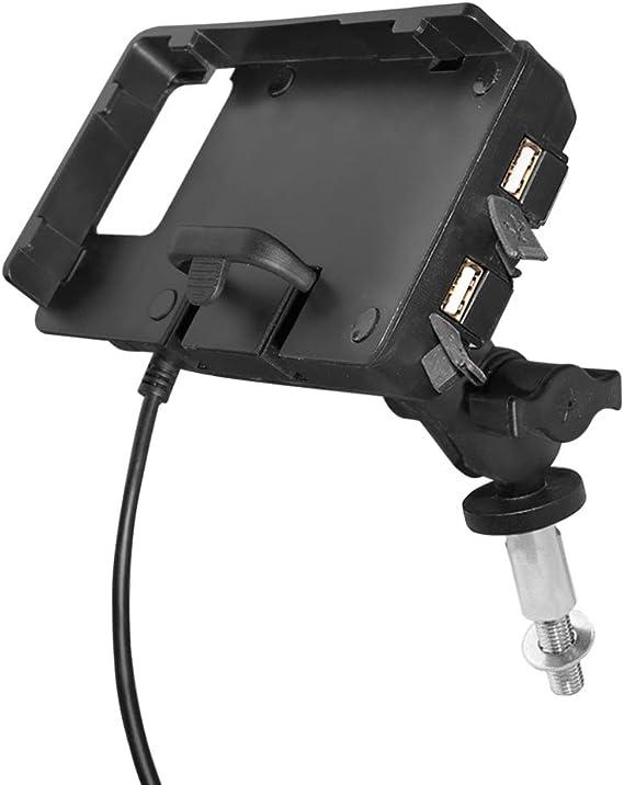 Guaimi Motorrad Handyhalterung Gps Halterung Mit 2 Usb Ladegerät Für Original Lenkrohrbefestigung Kompatibel Mit K Awasaki Ninja650 17 20 Ninja1000 11 20 Gtr1400 06 20 Ninja H2sx 18 20 Z1000sx 11 20 Auto