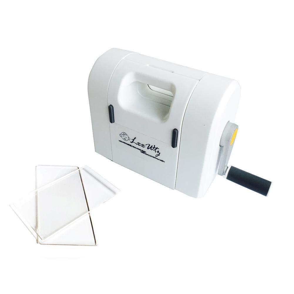 softwind DIY Manual Embossing Machine Multipurpose - IntellectualDevelopment,Hands-onPractice,InterestTraining,Parent-ChildCommunication,Hand-EyeCoordination - White