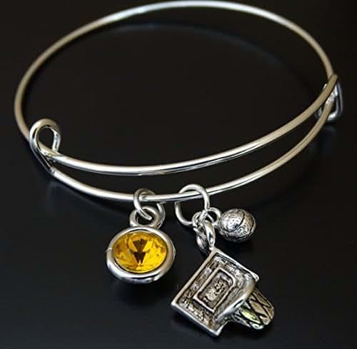 Basketball Charm Bracelet: Amazon.com: Basketball Bracelet, Basketball Charm