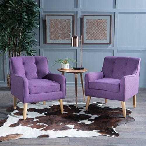 Christopher Knight Home 300574 Felicity Arm Chair, Purple