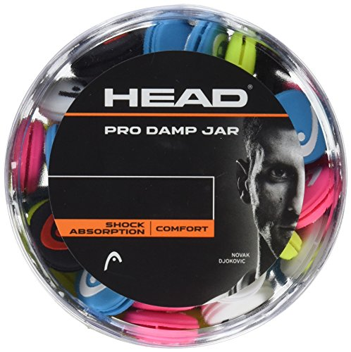 (HEAD Pro Tennis Racket Vibration Dampeners - Racquet Shock Absorbers, 70 Piece Bulk Jar)