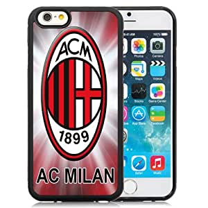 Unique DIY Designed Case For iPhone 6 4.7 Inch TPU With Soccer Club Ac Milan 01 Football Logo Cell Phone Case