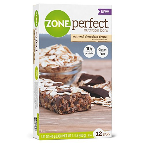 Oatmeal Chocolate Chunk (ZonePerfect Nutrition Bars, Oatmeal Chocolate Chunk, 12 Count, 1.1 lbs box by Zone Perfect)