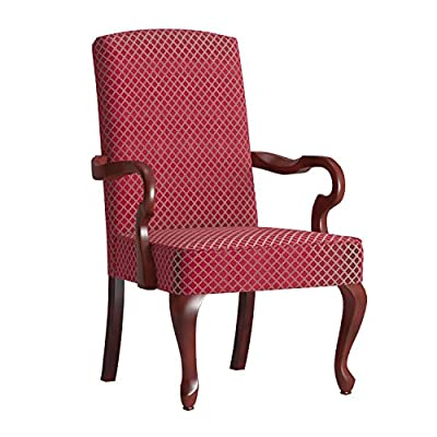 Comfort Pointe Derby High Back Accent Chair, Red , - Red Made from solid wood Traditional style - living-room-furniture, living-room, accent-chairs - 51Va PDDnzL. SS400  -