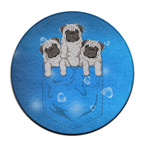 ALIPAPA Home Furnishing Laundry Animal Pocket Pug Dog NonSlip Mats White