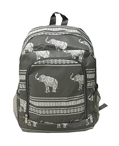 School Backpack for Boys and Girls, Sturdy and Water-Resistant (Grey Elephant)