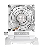 Thermaltake Mobile Fan III Portable Desk Fan with Directional Fan Swivel, Compact Design, and Mini-USB to USB Retractable Cable Cooling AF0065 White