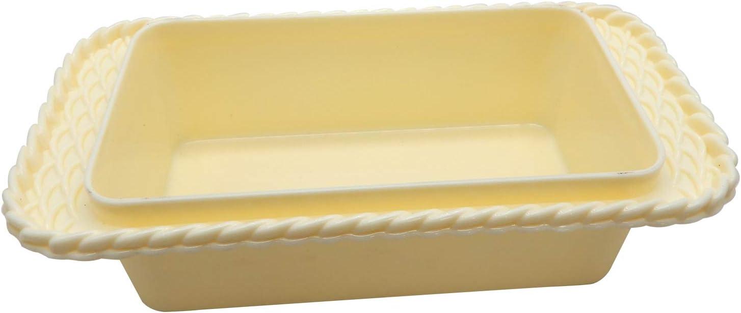 Beurre Coque de Couleur cr/ème Bignay herm/étique rectangulaire Bo/îte de Conservation avec Insert de Beurre