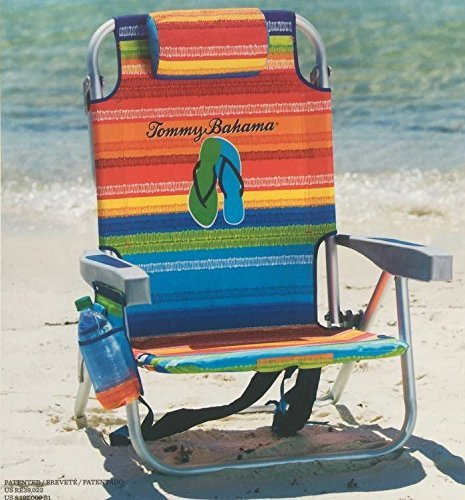 Tommy Bahama 2015 Backpack Cooler Chair with Storage Pouch and Towel Bar- (Aluminium Ice)