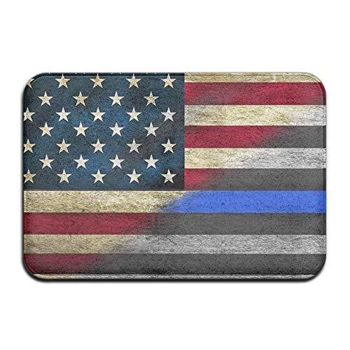 J.Lambert American Blue Lines Flag Floor Doormats Non-Slip L