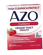AZO Cranberry Urinary Tract Health Dietary Supplement, 1 Serving = 1 Glass of Cranberry Juice, Sugar Free