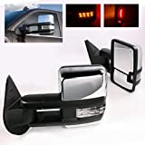 ModifyStreet Power Side Towing Mirrors with Clear Lens Turn Signal and Heated Defrost and Clearance Light for 14-17 Chevy Silverado Avalanche Tahoe Yukon/XL/Denali Suburban or GMC Sierra - Chrome