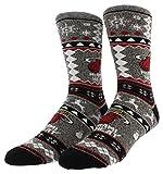 FBF Originals Mens Miami Heat Ugly Sweater Socks Heather Grey