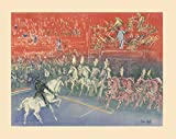 """Offset Lithograph by Raoul Dufy entitled """"Circus"""". The Offset Lithograph is 22 inches in height by 28 inches in width and the image area measures 17.75 inches in height by 24 inches in width. The year of this Offset Lithograph is not known and it's f..."""