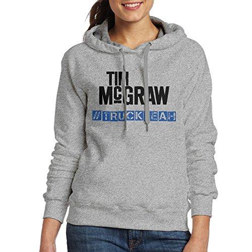 FUOCGH Women's Pullover Tim McGraw Hoodie Sweatshirts Ash XL