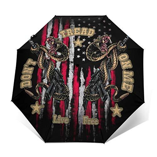 Don't Tread On Me3 Windproof Travel Umbrella Open/Close Triple Fold (Best California Umbrella Cnas)
