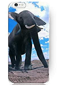 SPRAWL New Fashion Creative Vintage Design 4.7 Inch Apple Iphone 6 Animal Case -- Elephant under Blue Sky