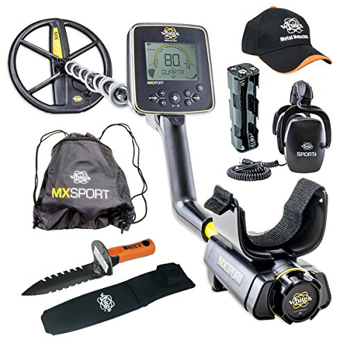 Whites MX Sport Waterproof Metal Detector GEARED UP Bundle