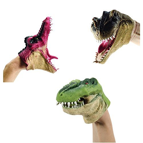 Schylling Dinosaur Hand Puppet (Sold Individually - Styles Vary)