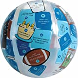 "American Educational Vinyl Clever Catch Ice Breaker Primary Ball, 24"" Diameter"