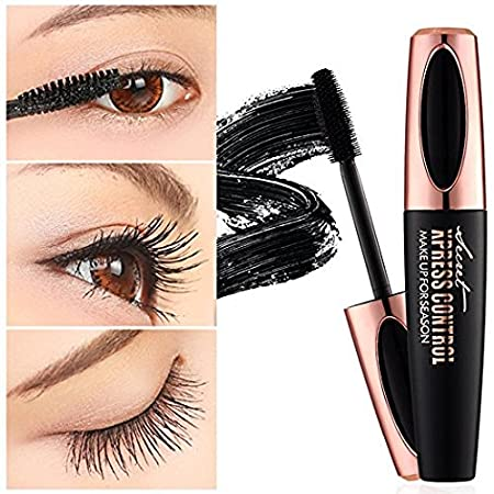 4D Silk Fiber Mascara-Waterproof Extensión de pestañas de larga duración Warm Water Washable Eyelash Mascara Eyelash Makeup (1 PCS): Amazon.es: Belleza