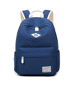 Mochila Causal Saco De Viaje La Impresión Bolsa Mochila Escolar Para Portátil Azul Marino: Amazon.es: Equipaje