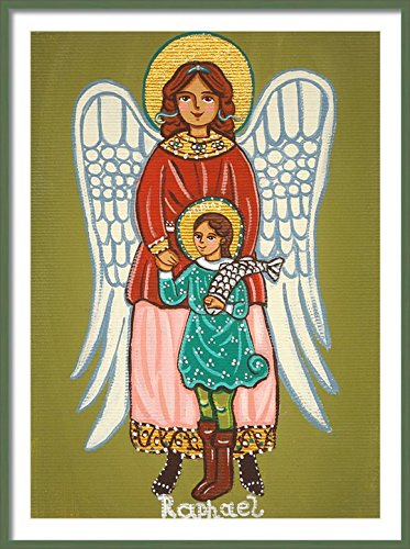 Saint Raphael the Archangel print Saint Raphael print St Raphael print Guardian Angel print Guardian Angel painting Guardian Angel picture Catholic wall art Catholic saint print Catholic painting