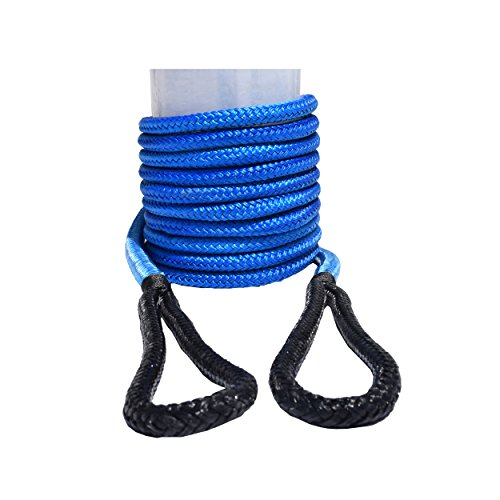 Blue Tow Rope - QIQU Kinetic Recovery & Tow Rope Heavy Duty Vehicle Tow Strap Rope for Truck ATV UTV SUV Snowmobile and 4x4 Off-Road Recovery 3 Size to Choose(1/2''/3/4''/1'') 3 Color (1/2''x20', Blue)