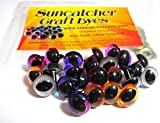 Suncatcher Craft Eyes - 12 Pair of 12mm Cat Eyes in Gold, Silver, Pink, Purple