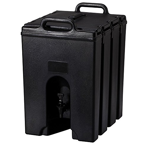 Cambro 1000LCD110 Black Camtainer 11.75 Gal. Insulated Beverage Server Cambro Beverage Dispenser