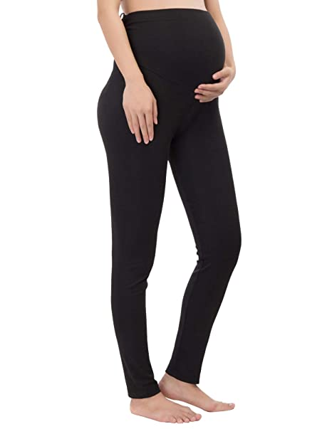 2ab00dc9f5566 Pregnant Women Work Pants Stretchy Maternity Skinny Slim Ankle Trousers S  Black