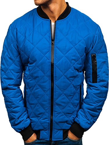 BOLF Zip ak76 Transitional Bomber 4D4 Blue Basic Jacket Sport Men's Mix XrwgrqnHx