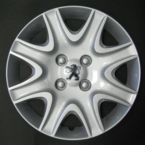 Desconocido Set de 4 embellecedores nuevos para Peugeot Partner / 208/308 con Llantas Originales de 15: Amazon.es: Coche y moto