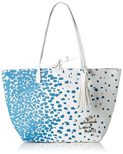 Desigual BOLS_CAPRI Salada, Bolsa de Medio Lado para Mujer, 13x28x30 cm (B x H x T) Azul (5050)