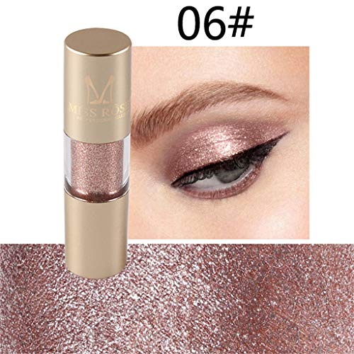 Makeup Eyeshadow - Glitter Liquid Eyeliner 8 Colors, Glitter Eyeshadow, Eye Art Lid, Waterproof Sparkling Eyeliner for Christmas Parties, Cosplay, Masquerade (F)]()