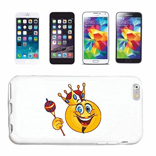 """cas de téléphone iPhone 7+ Plus """"SMILEY AS KING AVEC couronne et le sceptre """"SMILEYS SMILIES ANDROID IPHONE EMOTICONS IOS sa sourire EMOTICON APP"""" Hard Case Cover Téléphone Covers Smart Cover pour App"""
