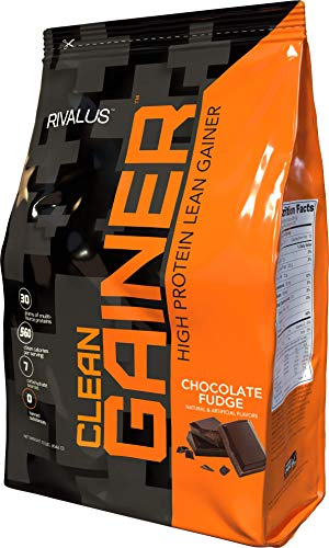 Rivalus Clean Gainer – Chocolate Fudge 10lb - Delicious Lean Mass Gainer with Premium Dairy Proteins, Complex Carbohydrates, and Quality Lipids, No Banned Substances, Made in (Lean Mass Complex Protein)