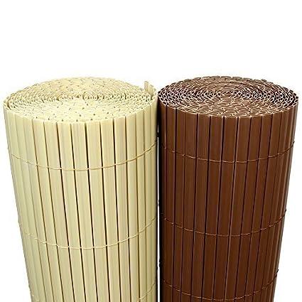 Rapid Teck 5m² Pvc Bambus Sichtschutzmatte 90cm X 300cm Braun Sichtschutzwindschutzgartenzaunbalkon Umspannung Zaun