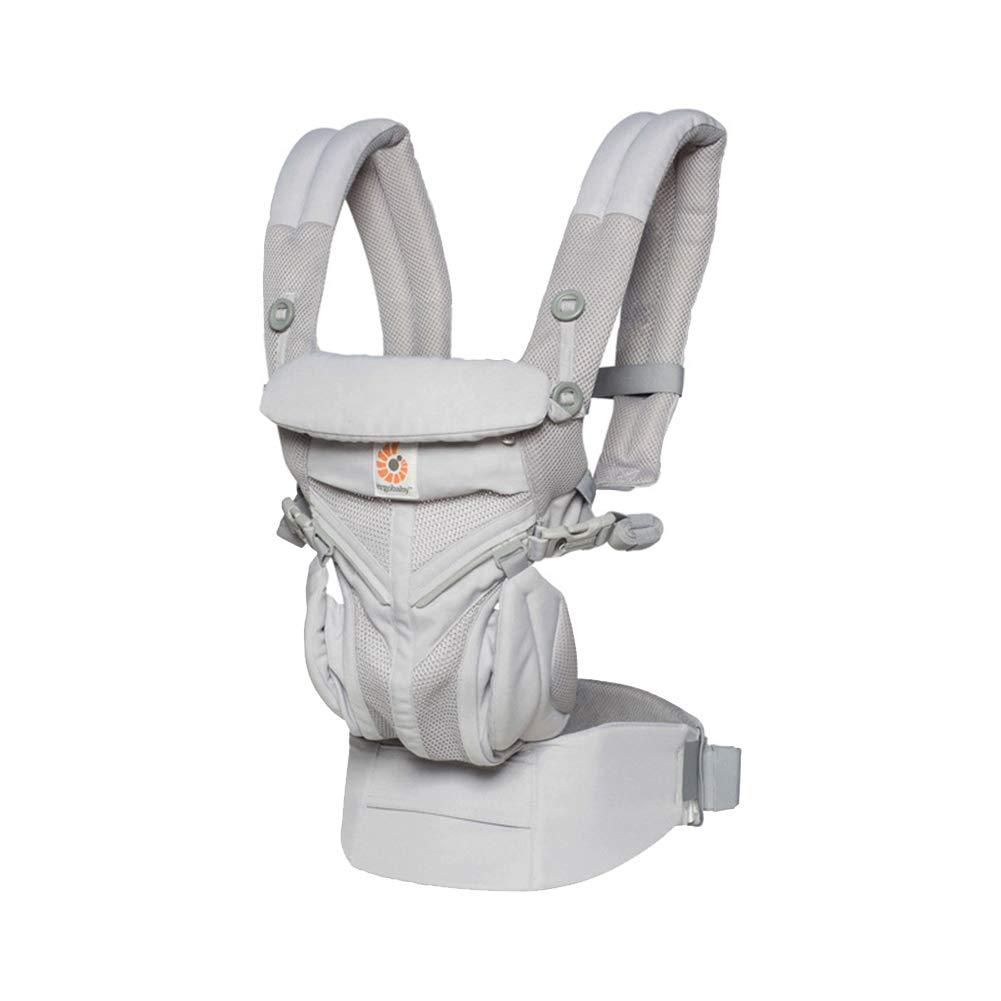 Portabebé s Multifuncional, Mochila Portabebes para Llevar A Tu Bebe Manos Libres Portabebé s Asiento De Cadera Mochila Portadora para Bebé s De 0 A 48 Meses, Gray LXYIUN