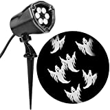 Gemmy Lightshow 59460 Projection Whirl-A-Motion Light Chasing Ghosts Halloween Fall Decoration