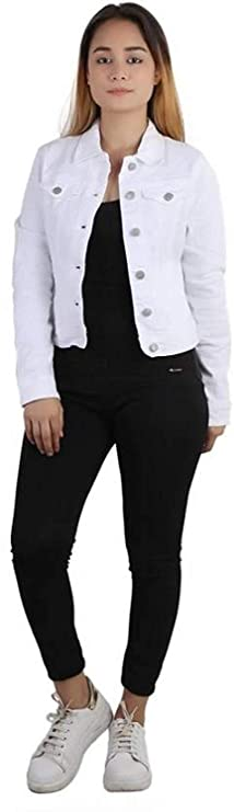 Kanzul Full Sleeves Solid Women's Denim Jacket Jackets