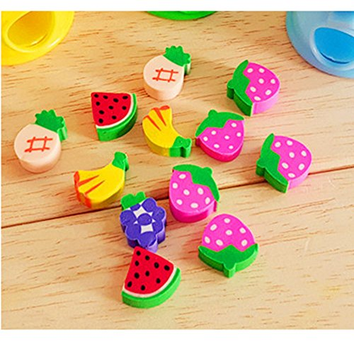HKJYC Gashapon toy Fruit shape toy stationery eraser children's gift toys Originality by HKJYCstore (Image #2)