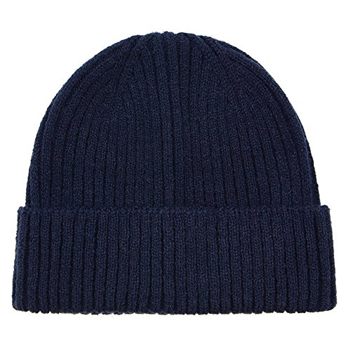 Refaxi Navy Blue Unisex Winter Warm Slouchy Cap Ski Skull Hats Knit (Cable Knit Reversible Hat)