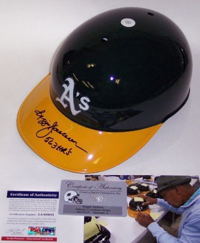 Reggie Jackson Autographed Hand Signed Oakland A's Authentic Batting Helmet - PSA/DNA