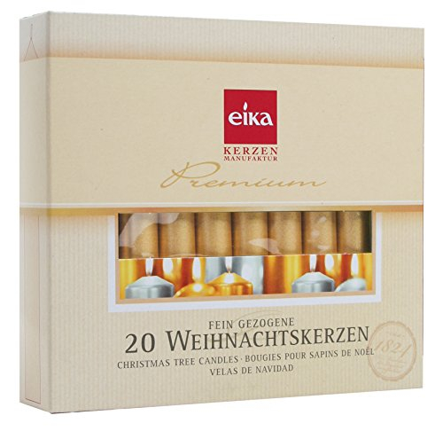 - Eika Golden Christmas Tree Candles - Gold - 4 Inches - Made in Germany - (Set of 20)