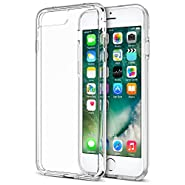 Trainium [Clarium Series] Protective Case for iPhone 7 Plus & 7 Pro 2016 Premium Shock Absorbing + Scratch Resistant Clear Cases Cover Hard Back Panel + TPU Bumper (Work with iPhone 6S Plus & 6 Plus)