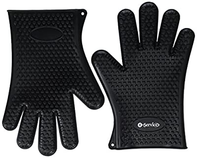 Highly Rated Silicone BBQ Gloves - Perfect For Use As Heat Resistant Cooking Gloves, Grill Gloves, Or Potholder - Directly Manage Hot Food In The Kitchen, Use As Grilling Gloves, Oven Gloves, Or At The Campsite! - Protect Your Hands And Avoid Accidents Wi