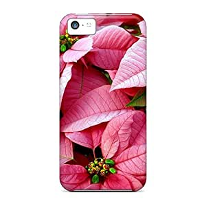 New Poinsettia Cases Covers, Anti-scratch OJG32829lSdq Phone Cases For Iphone 5c