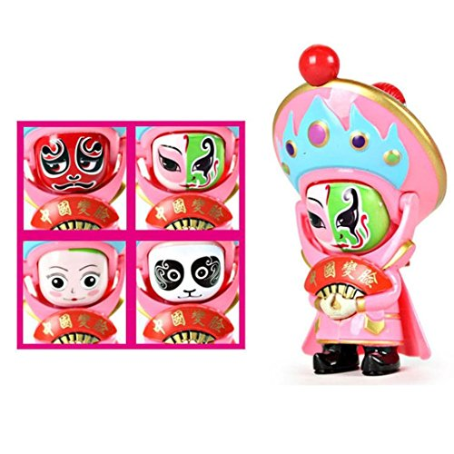 Inverlee Traditional Creative Chinese Beijing Opera Face Changing Doll Ghildren Funny Play Good Gifts (Chinese Opera Dolls)